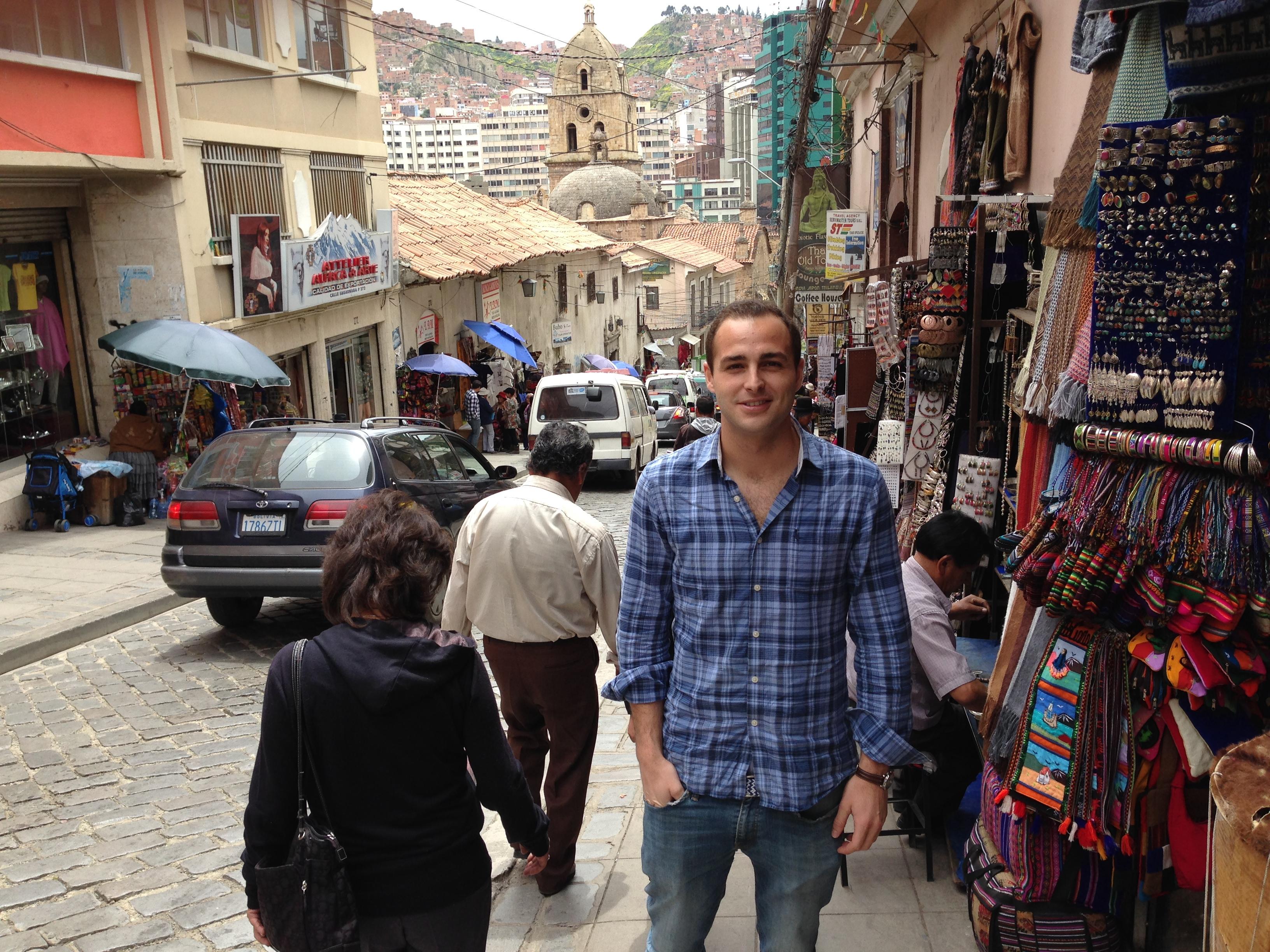 Calle típica de La Paz