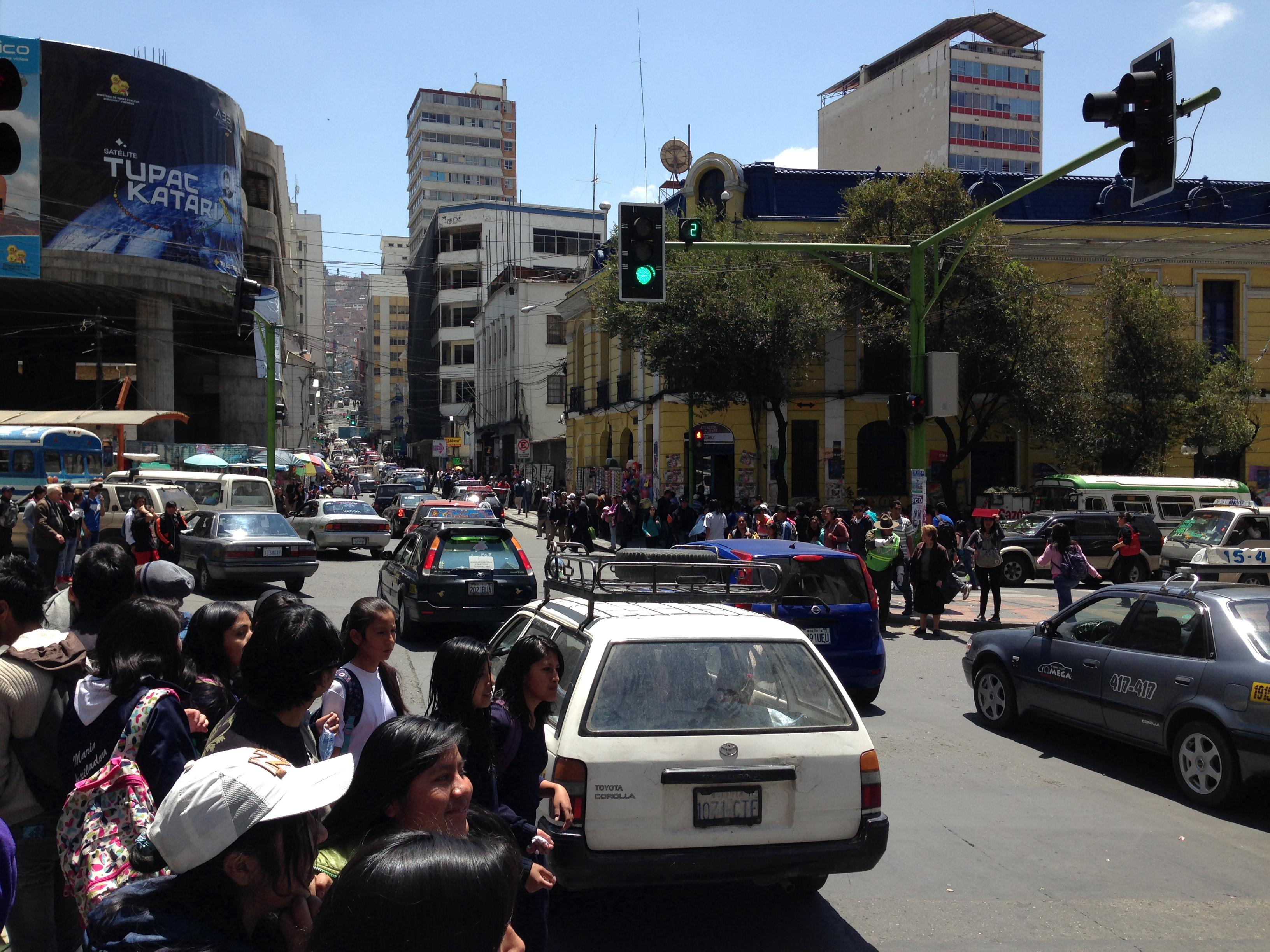 Calle céntrica de La Paz