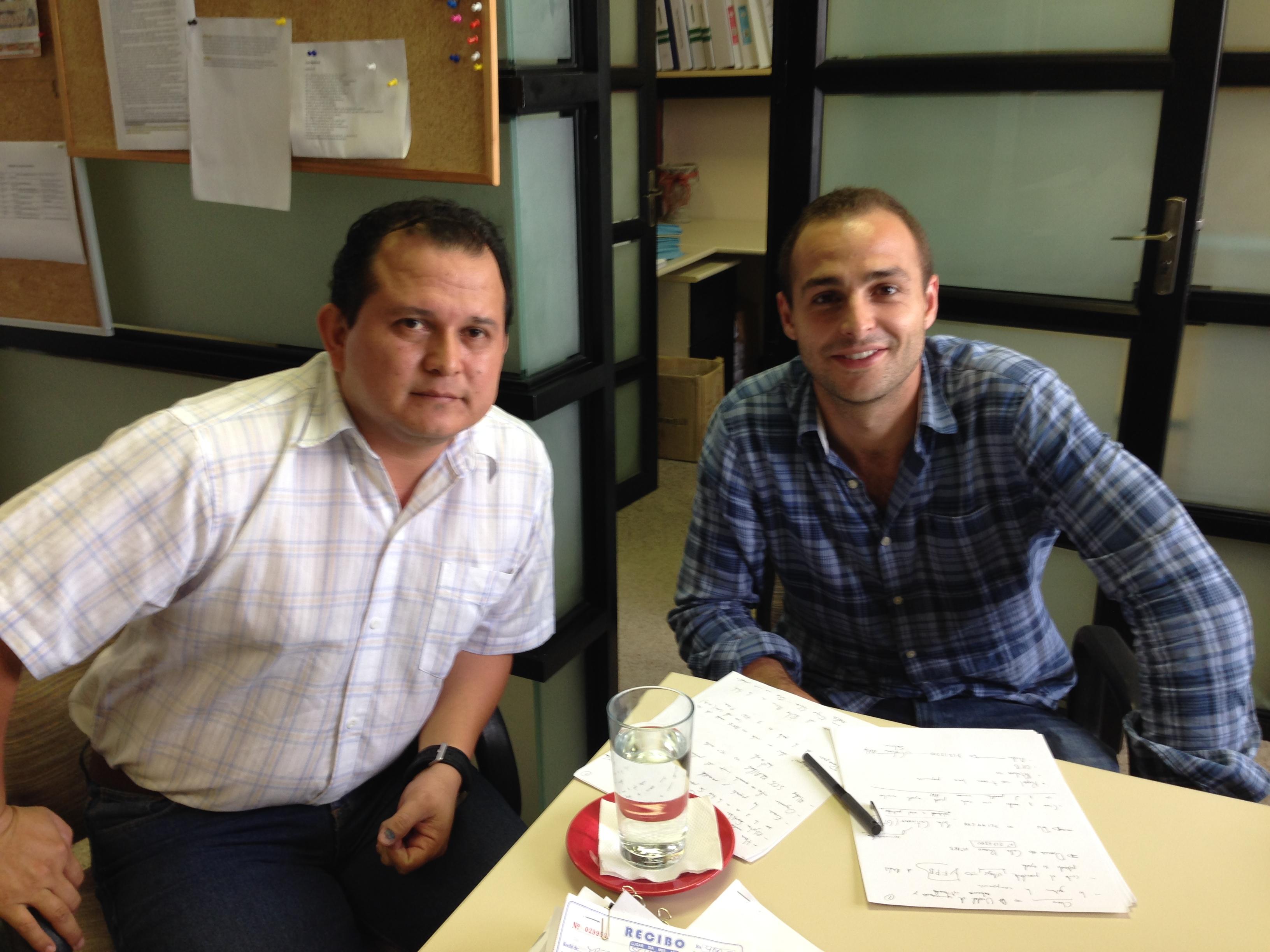 Con Álvaro Ayala (Jefe de la Unidad de Comunicación y Relaciones Institucionales) de IPFB Chaco S.A.