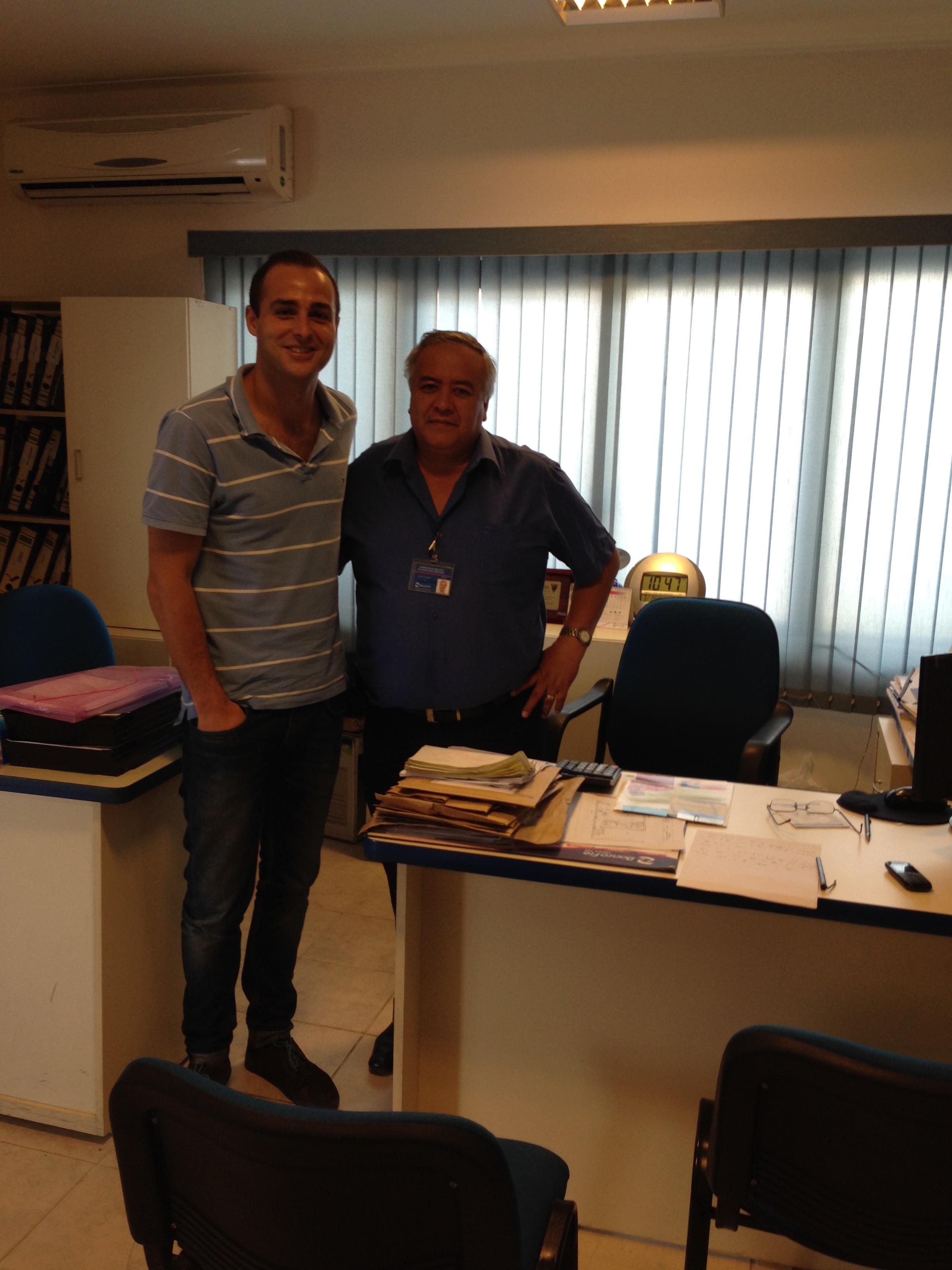 Con Ronald Solares de Banco FIE