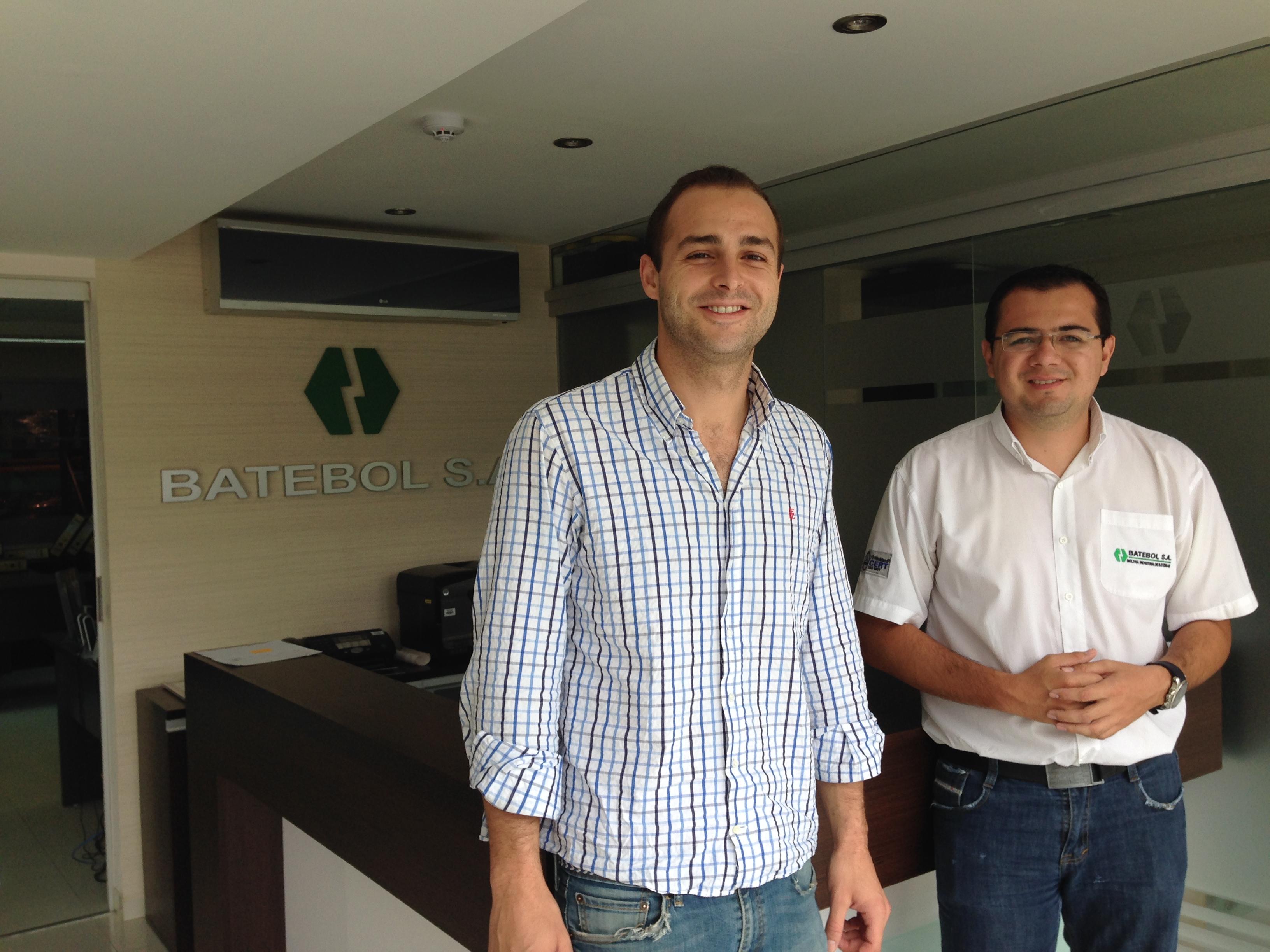 Con Marco Zárate de Batebol S.A.