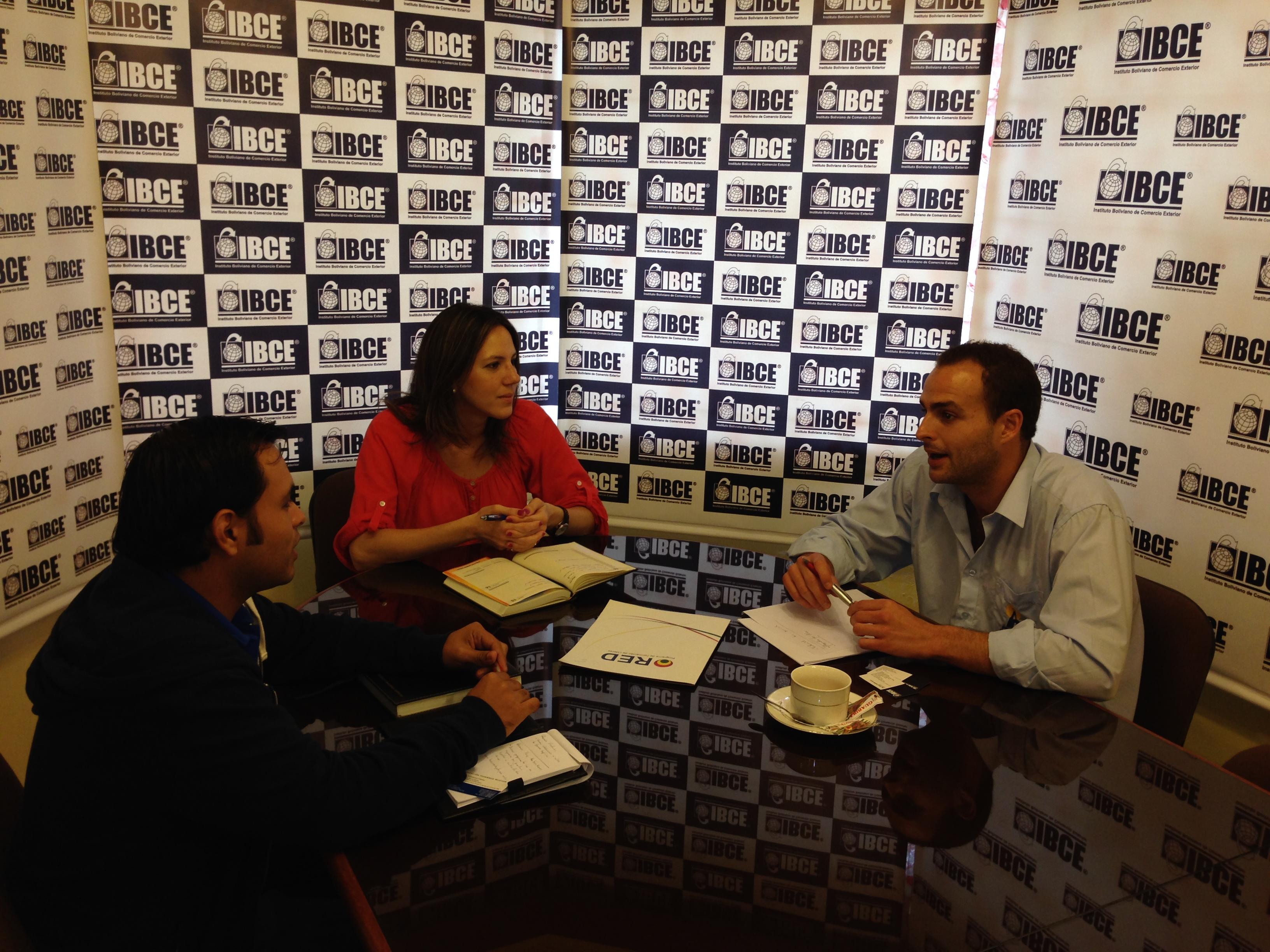 Reunión con el Instituto Boliviano de Comercio Exterior