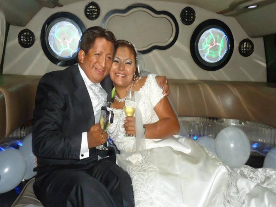 El día de su boda con María