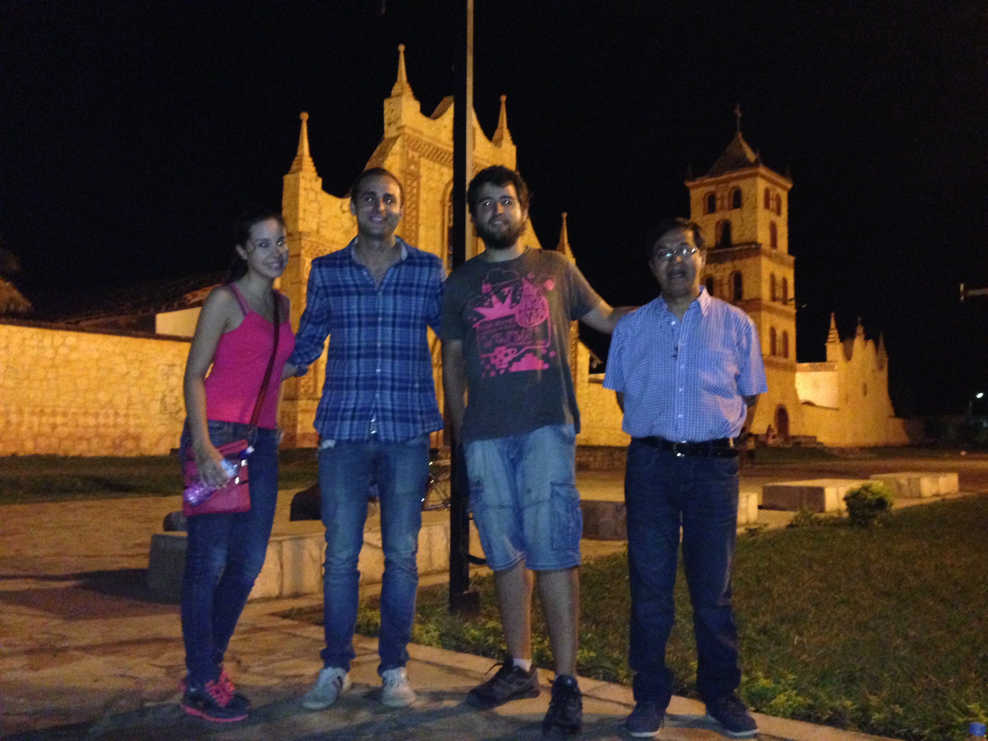 Iciar, yo, Jesús y el Hermano Milton en San José de Chiquitos