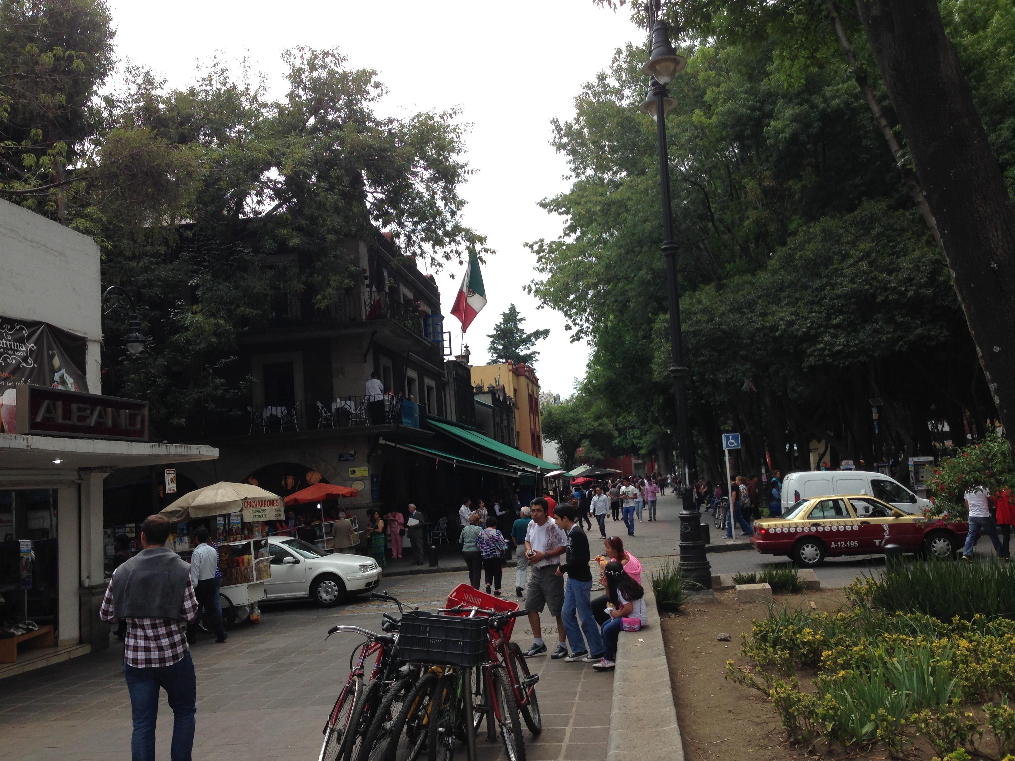 Calle típica de Coyoacán