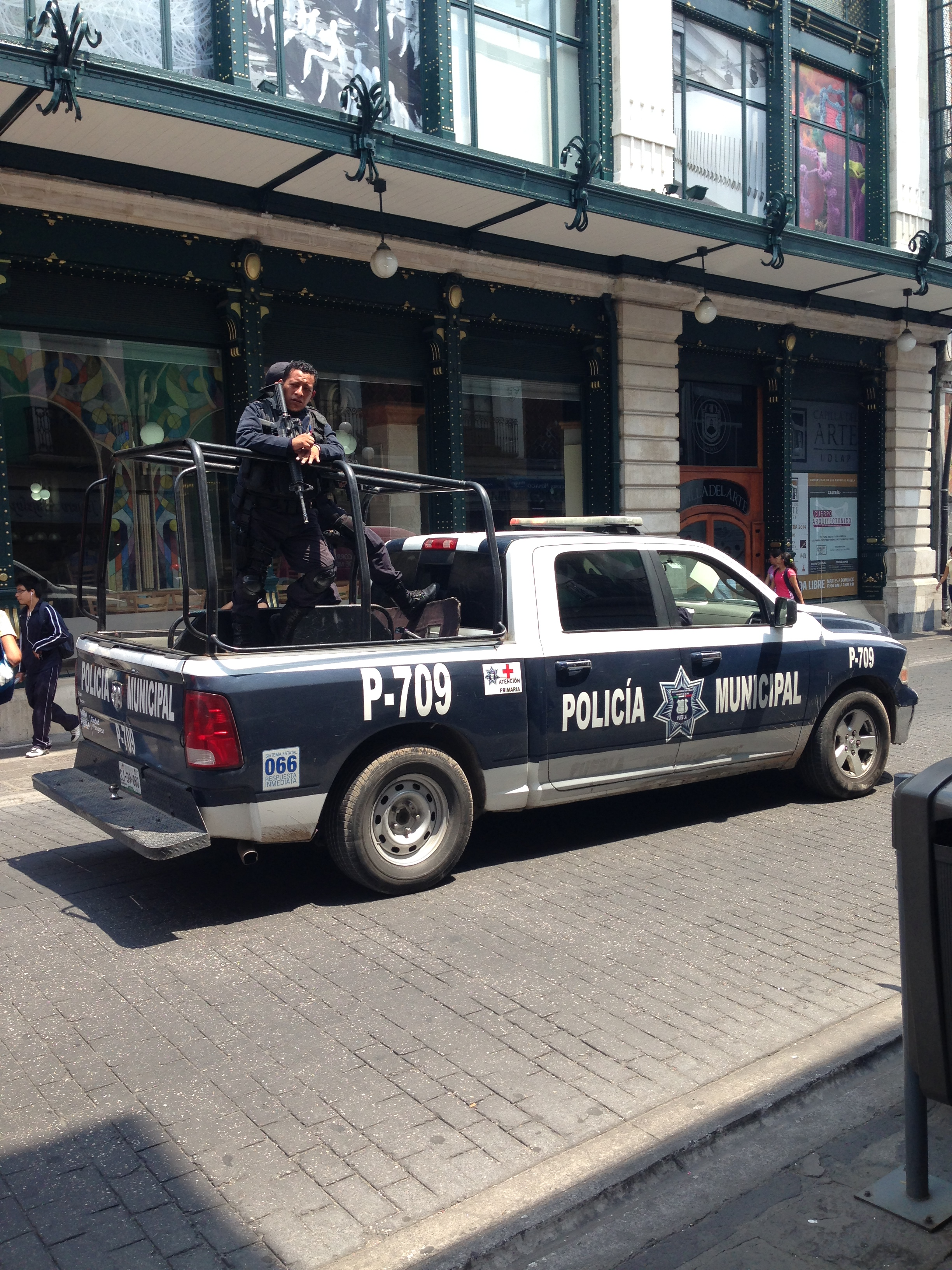 La Policía Municipal patrullando Puebla