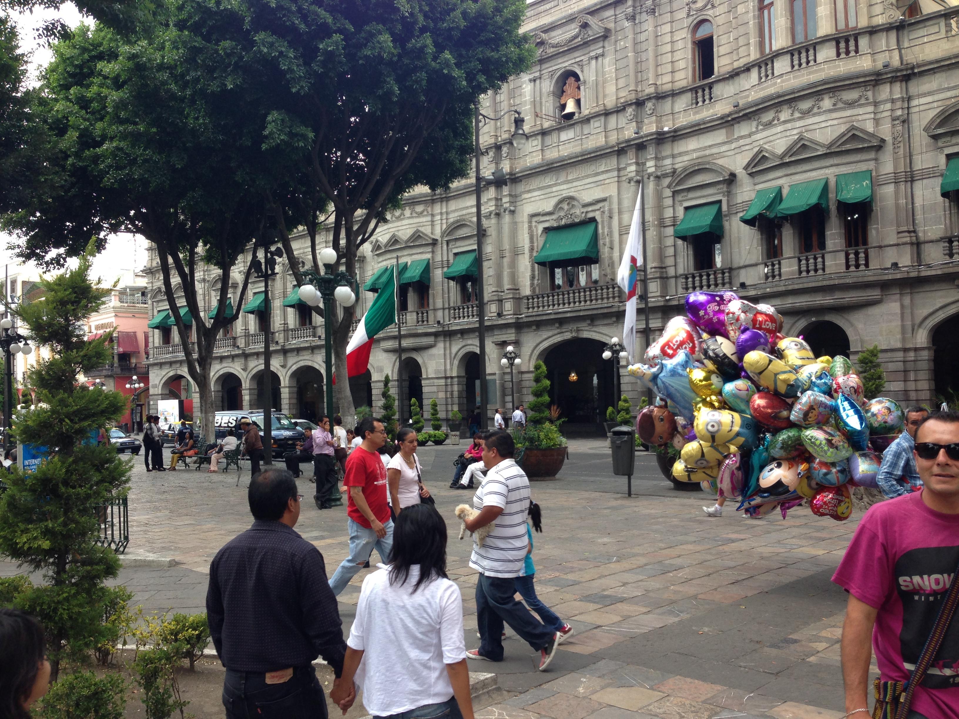 Plaza central de Puebla