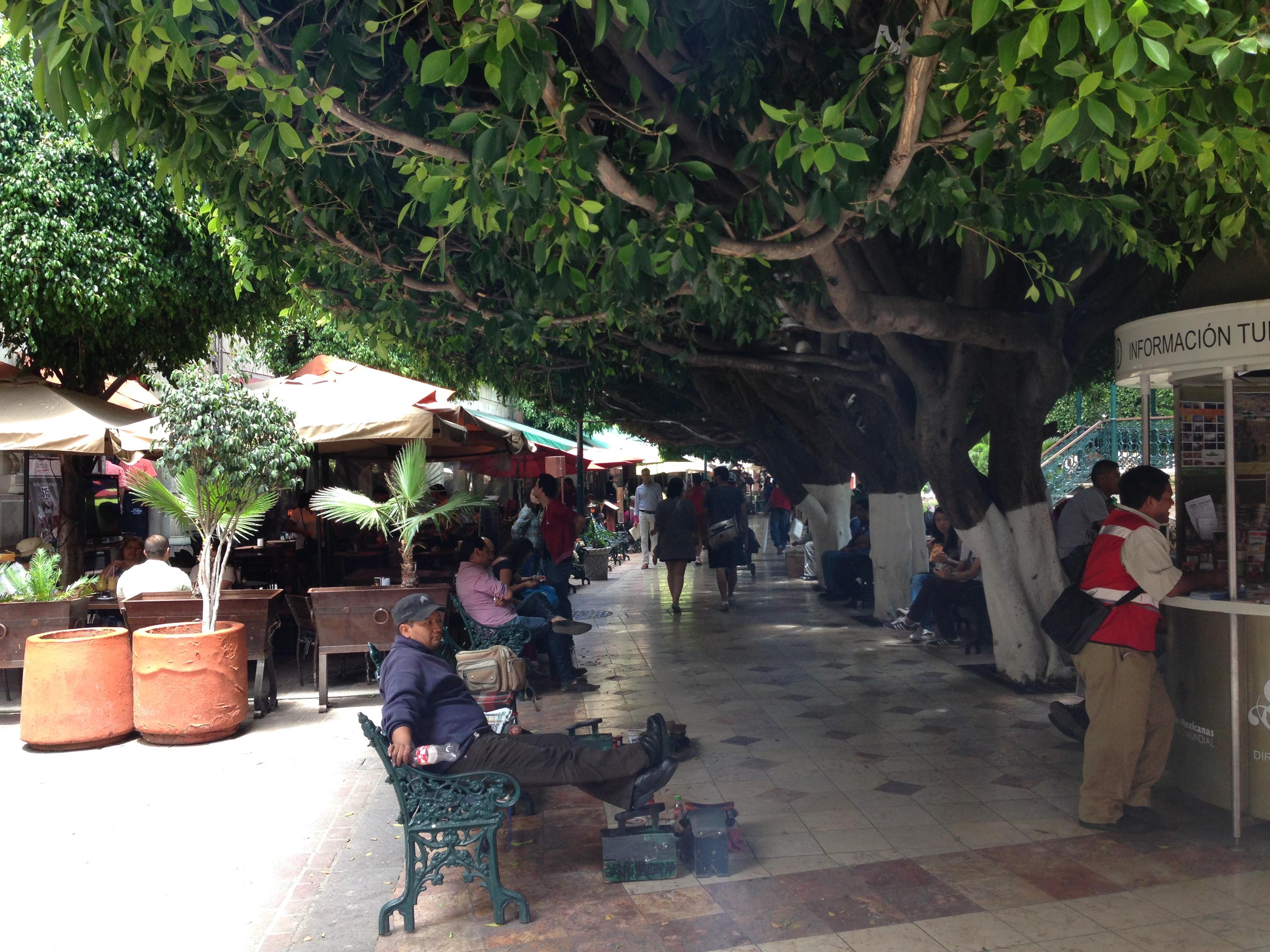 Interior de la Plaza principal de Guanajuato
