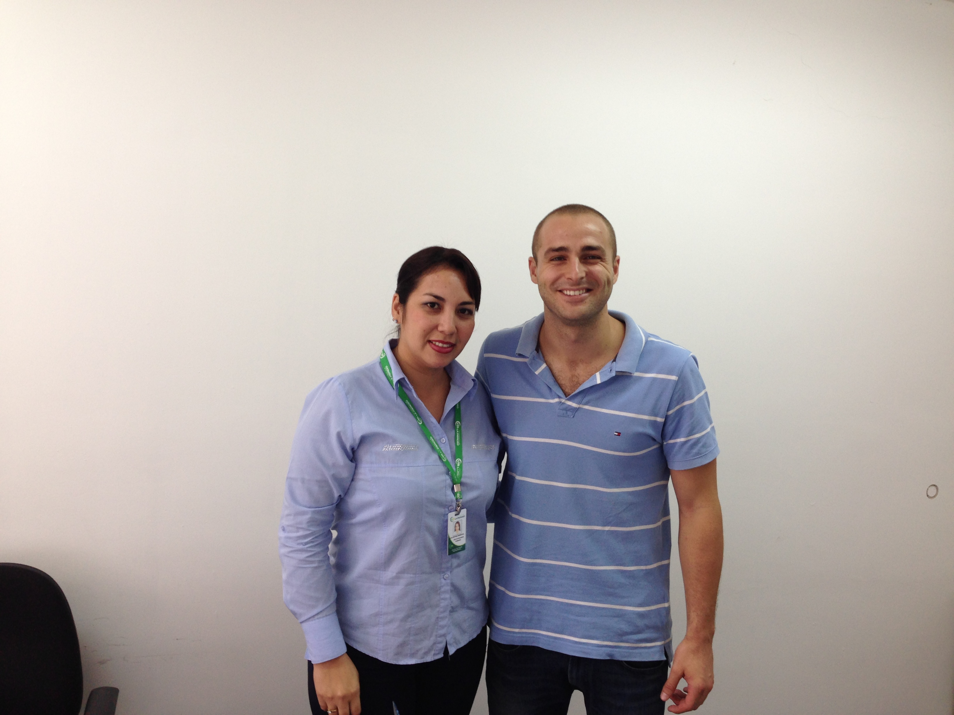 Con Cinthia Mariscal (Jefe de RRHH) de la Cooperativa La Merced