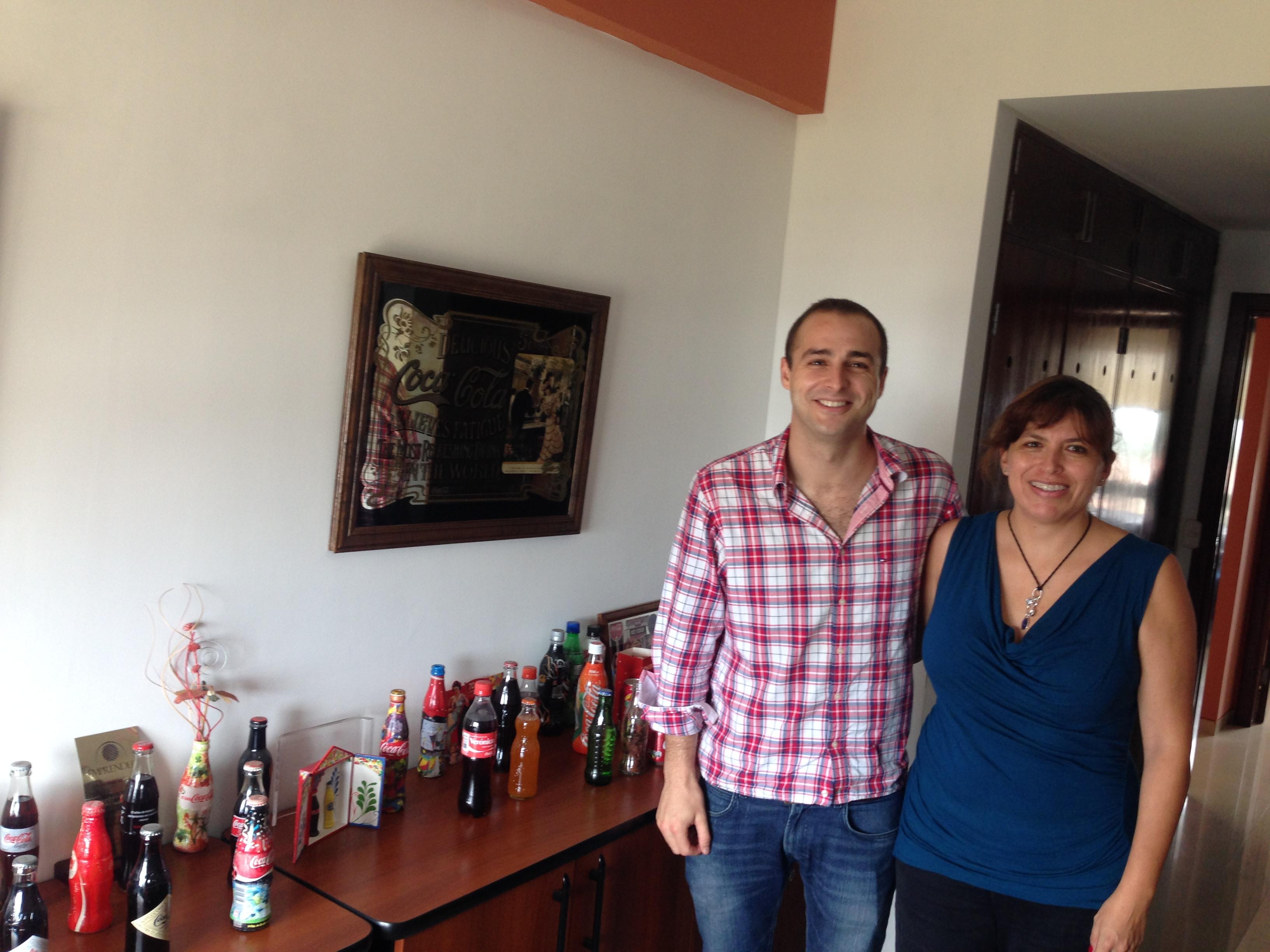Con Verónica Ocampo (Responsable de la Fundación Coca-Cola en Bolivia) de Coca-Cola