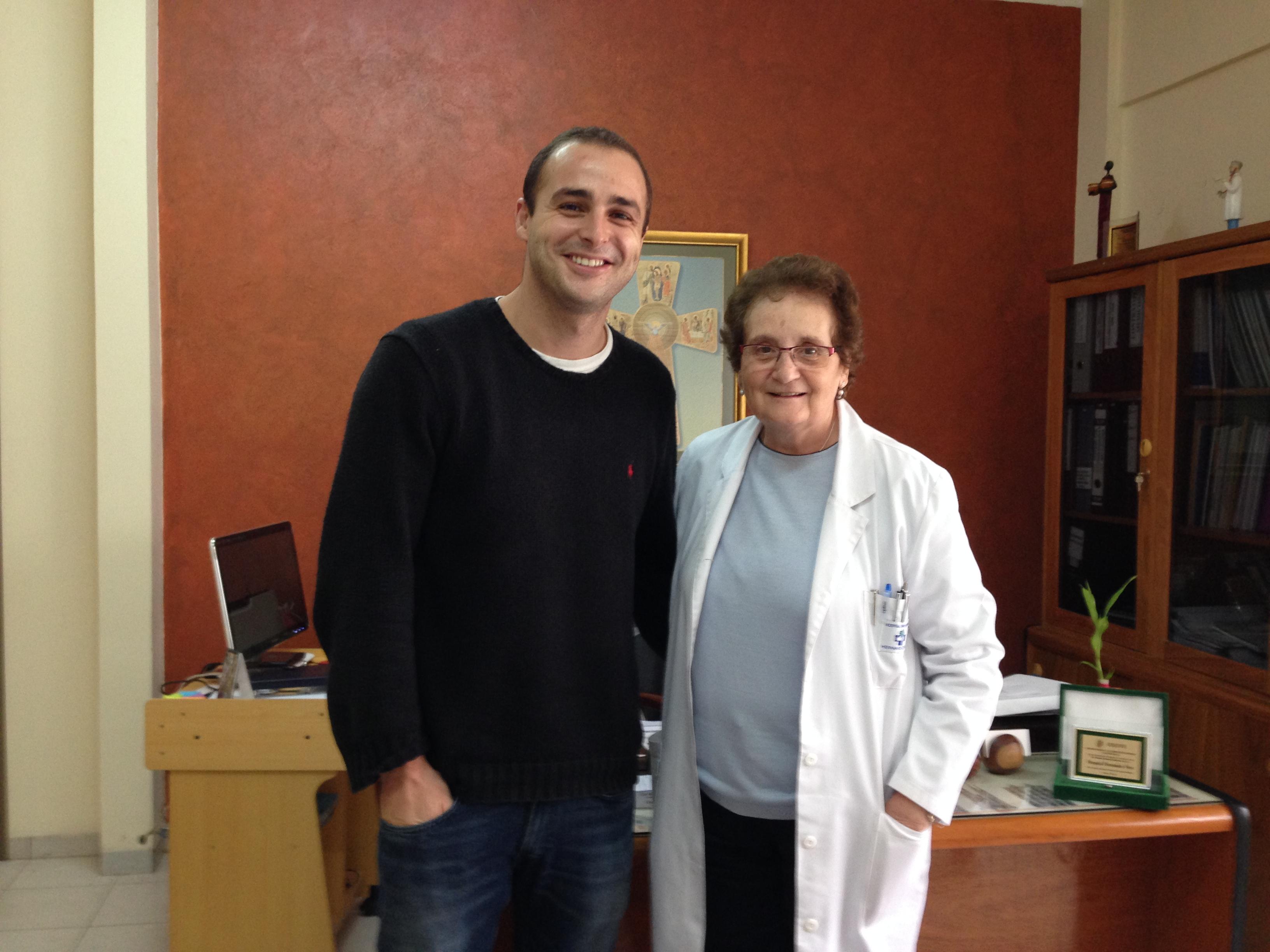 Con Maria Luz en su despacho