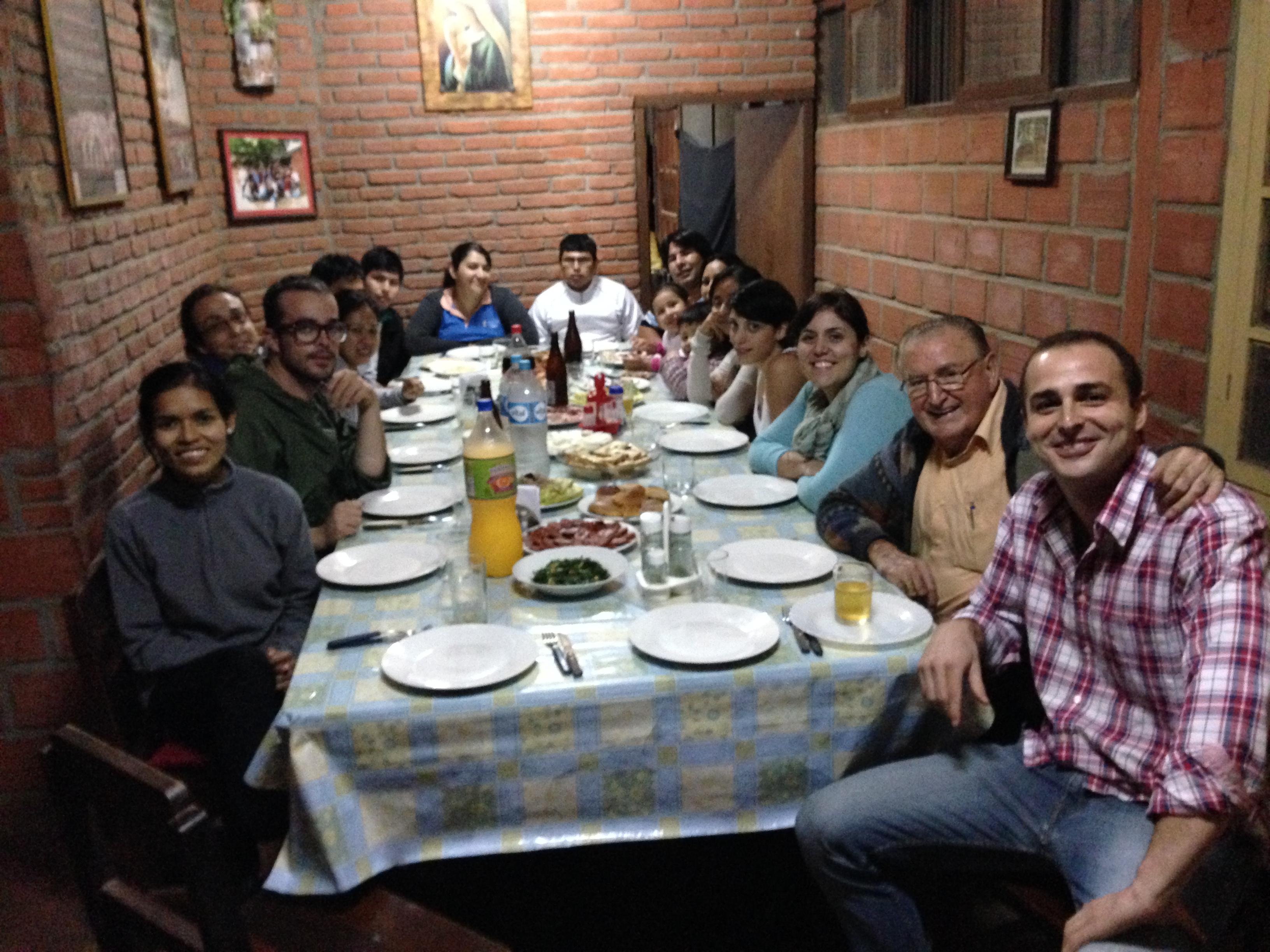 Cena de despedida al Padre Nicolás en Palacio