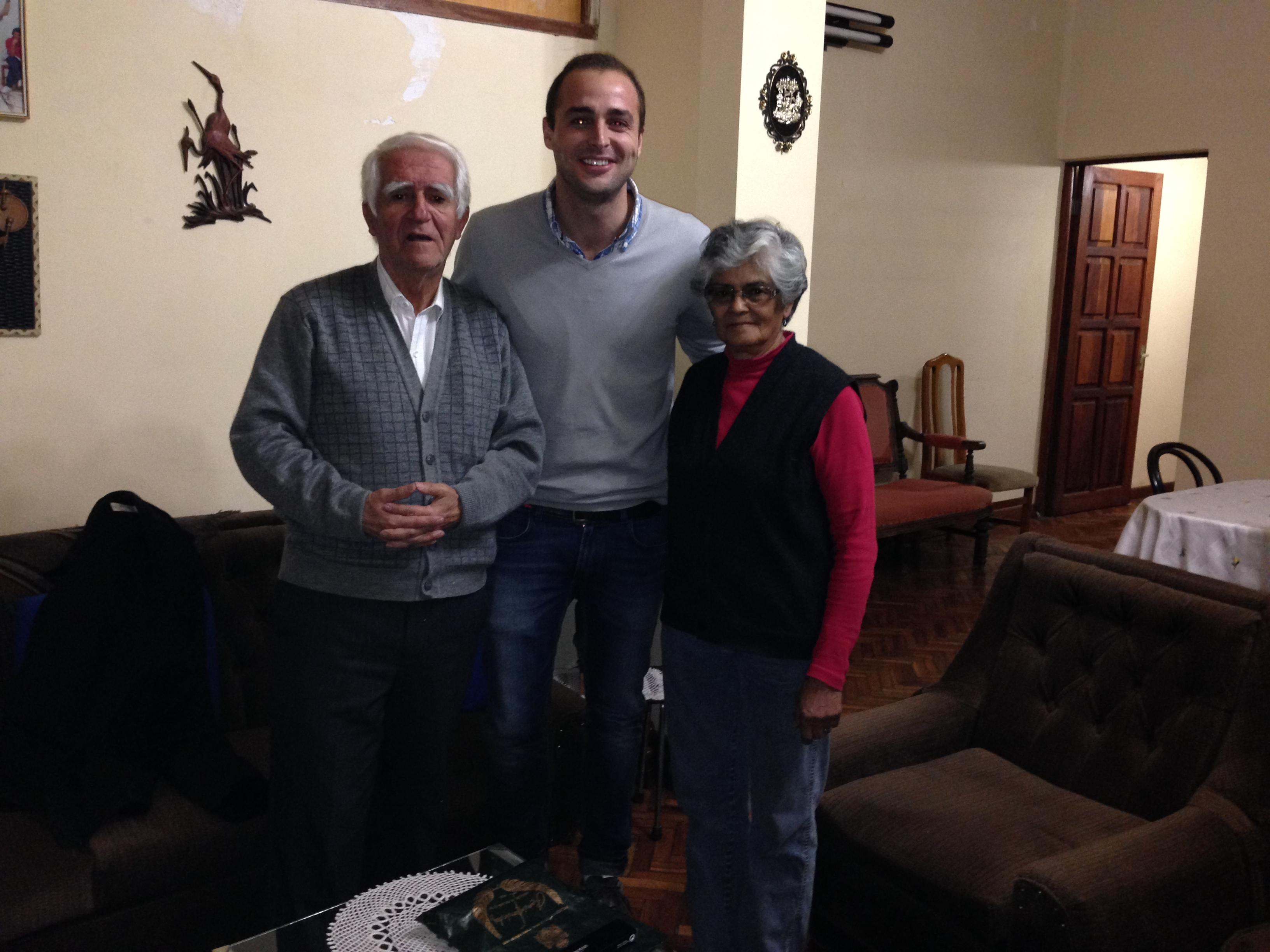 Con D. Ramiro y su esposa Cira