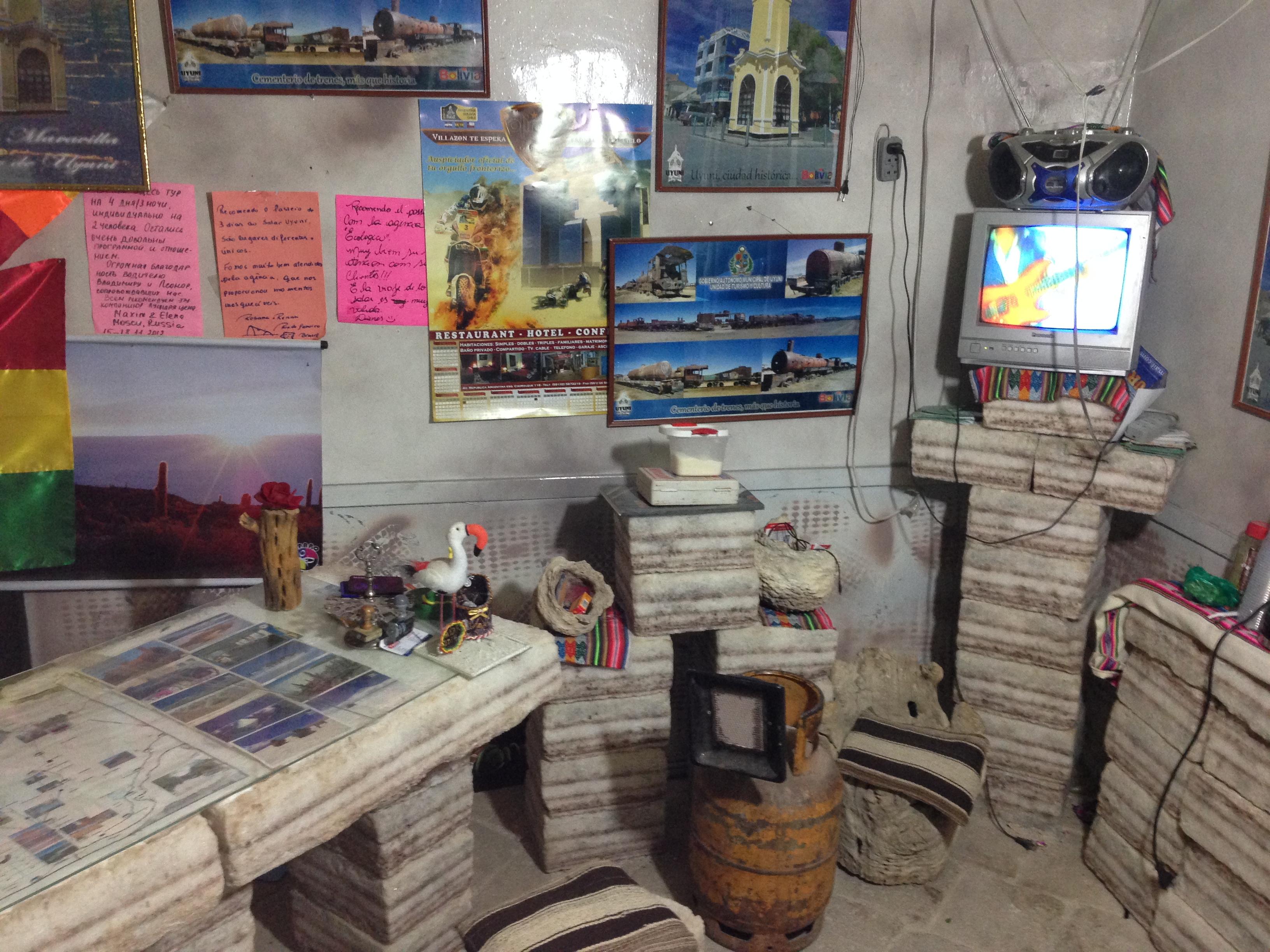 Recepción del Hotel en Uyuni