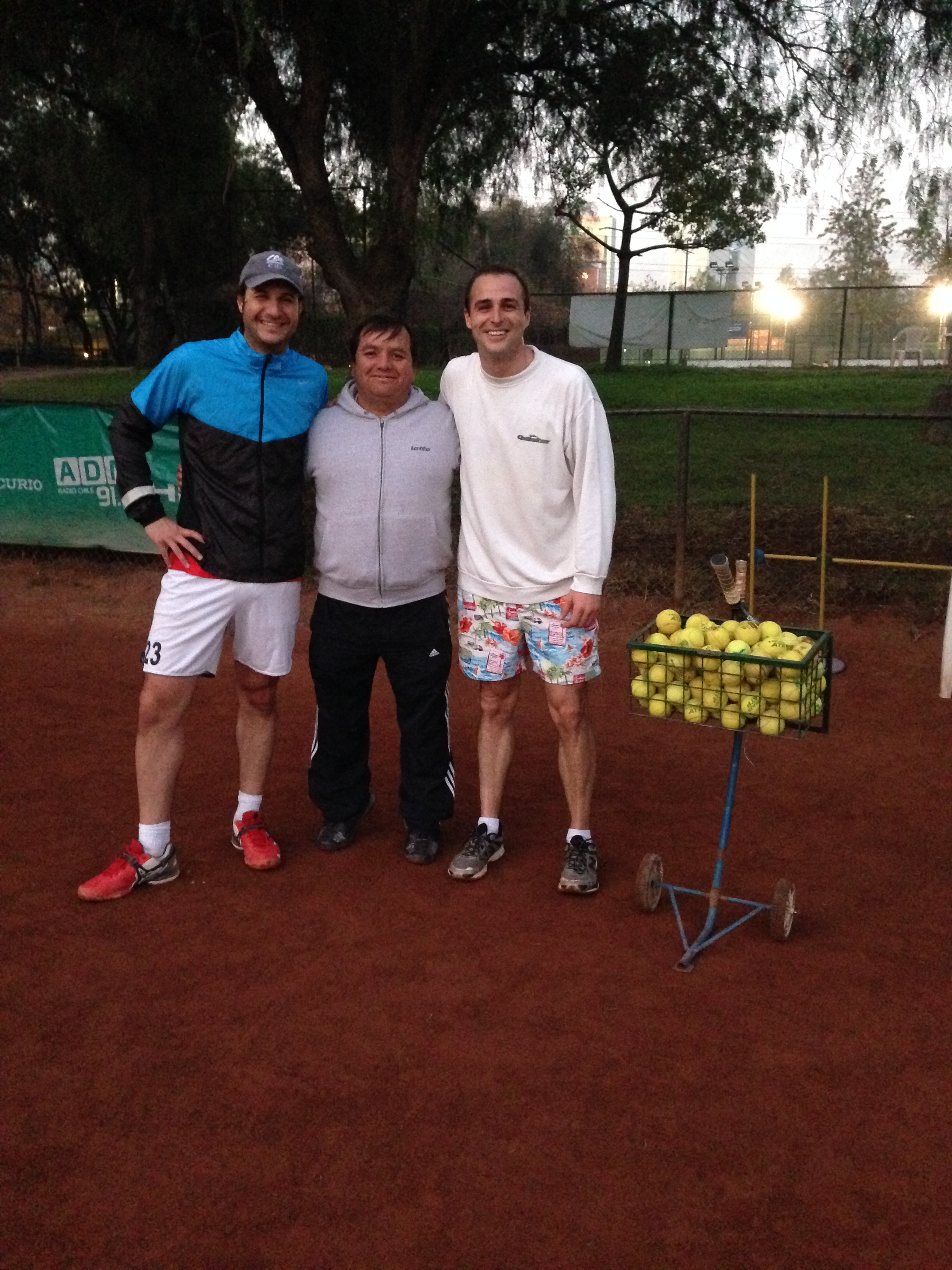 Juan, Ricardo (entrenador de Juan) y yo tras la sesión