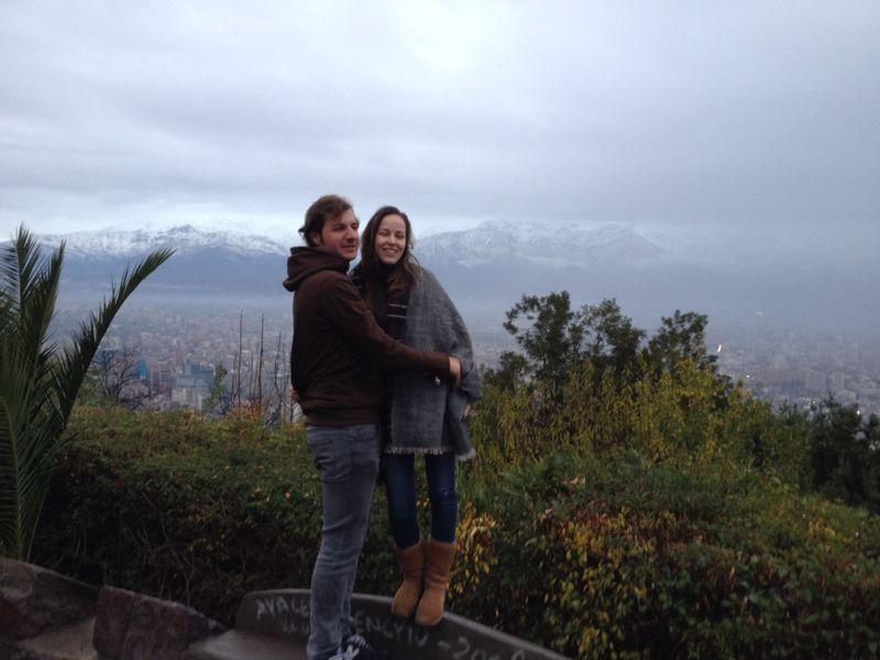 Juan y Bea en el cerro de San Cristóbal