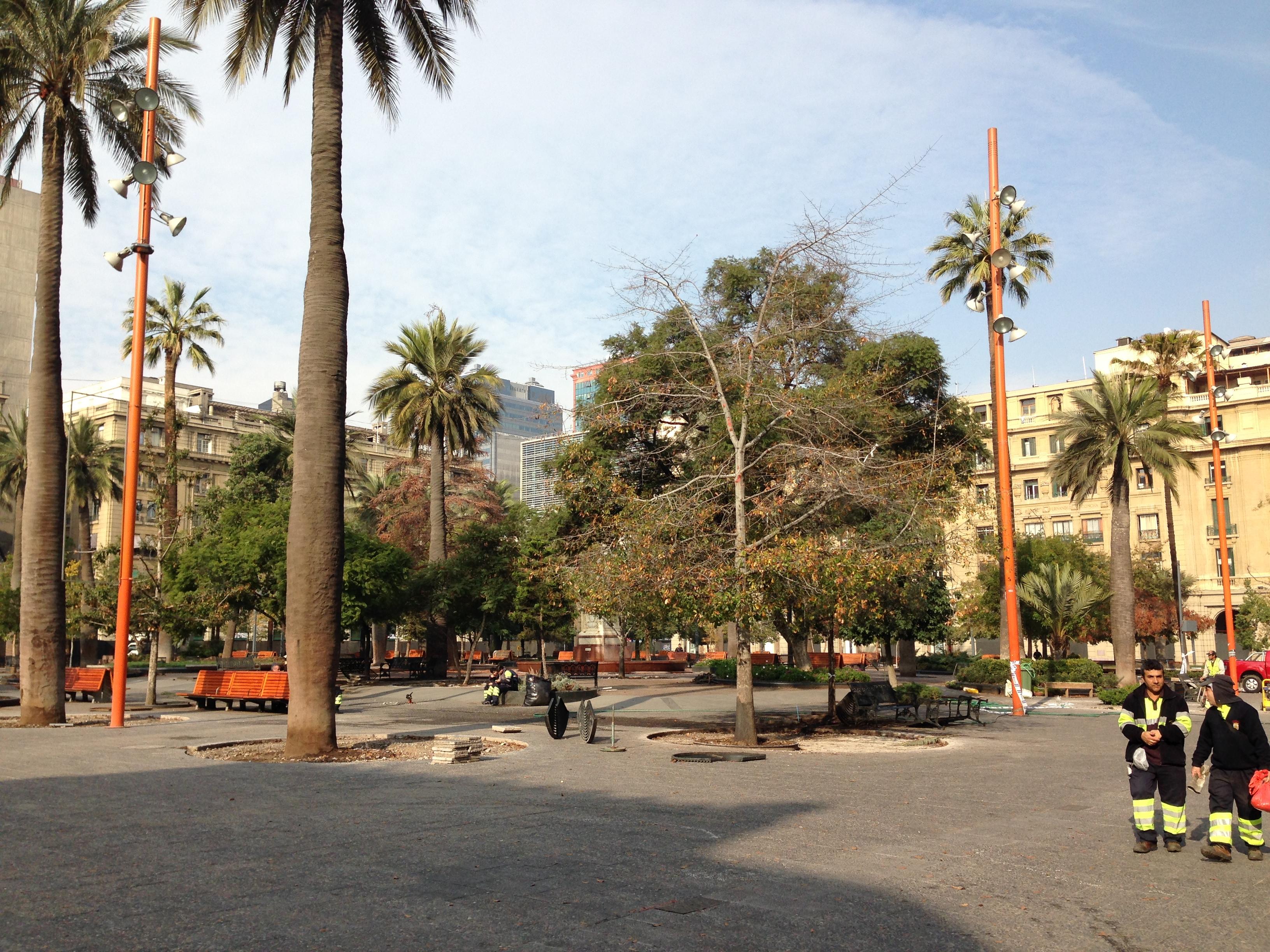 Plaza de Armas (considerado como centro histórico de Santiago)