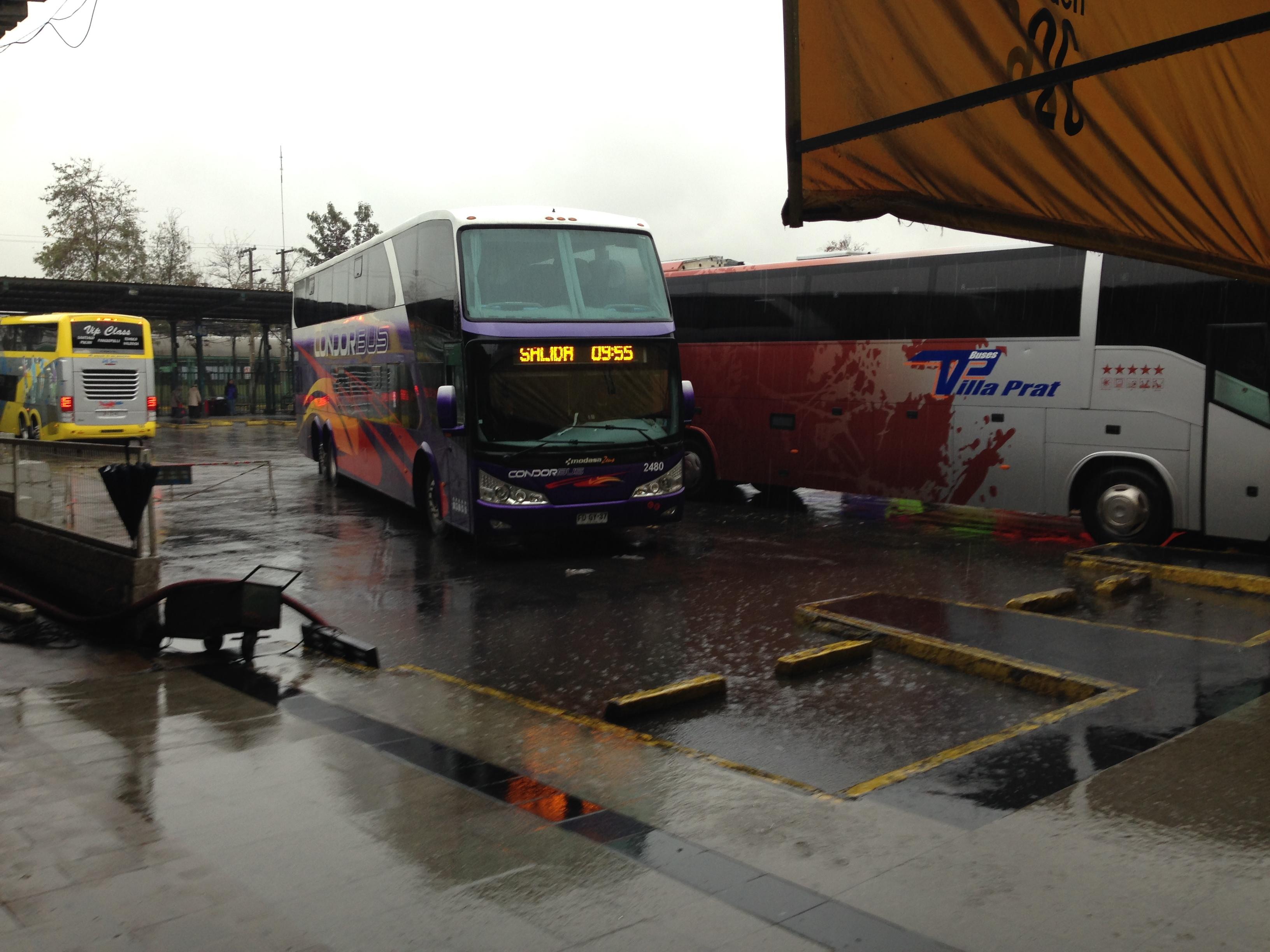 Terminal de autobuses de Santiago el día de mi supuesta partida