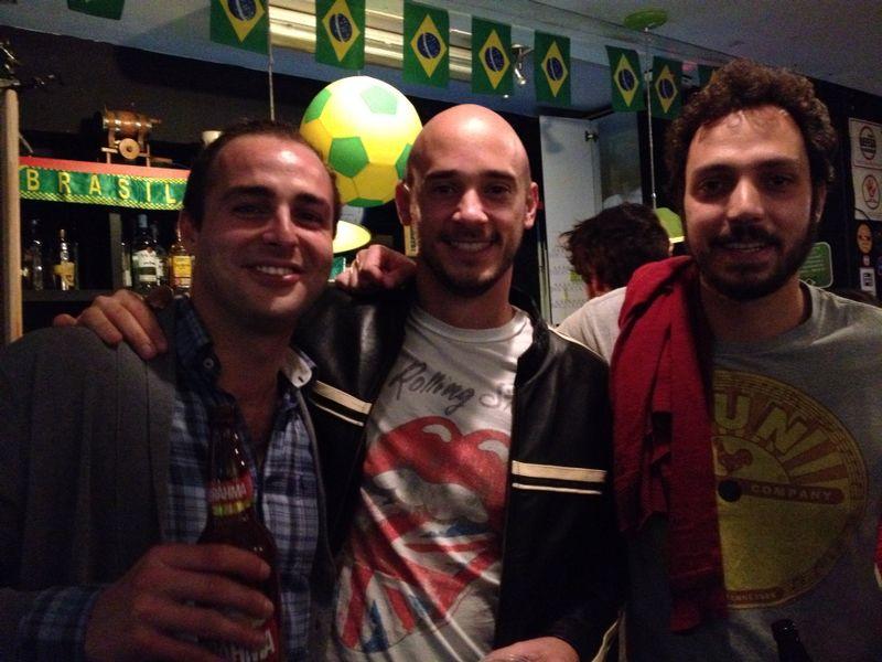 Con Fabio y Guille