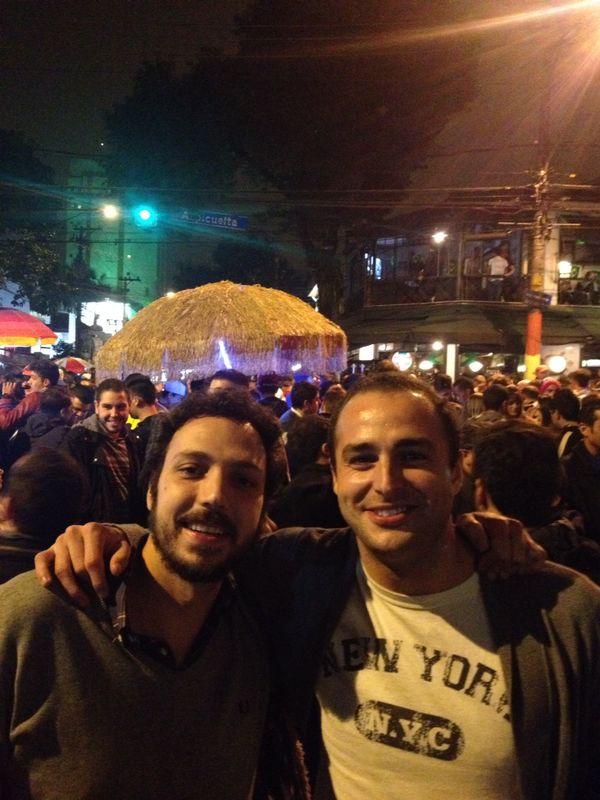 Con Guille en Vila Madalena