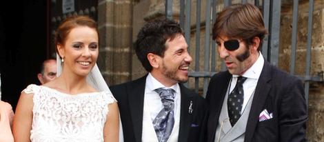 Con su buen amigo David de María el día de la boda de éste