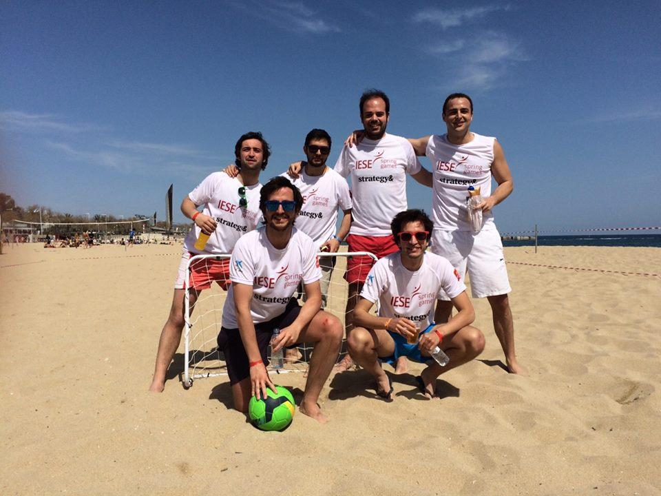 Equipo con el que ganamos el Torneo de Futbol Playa de los