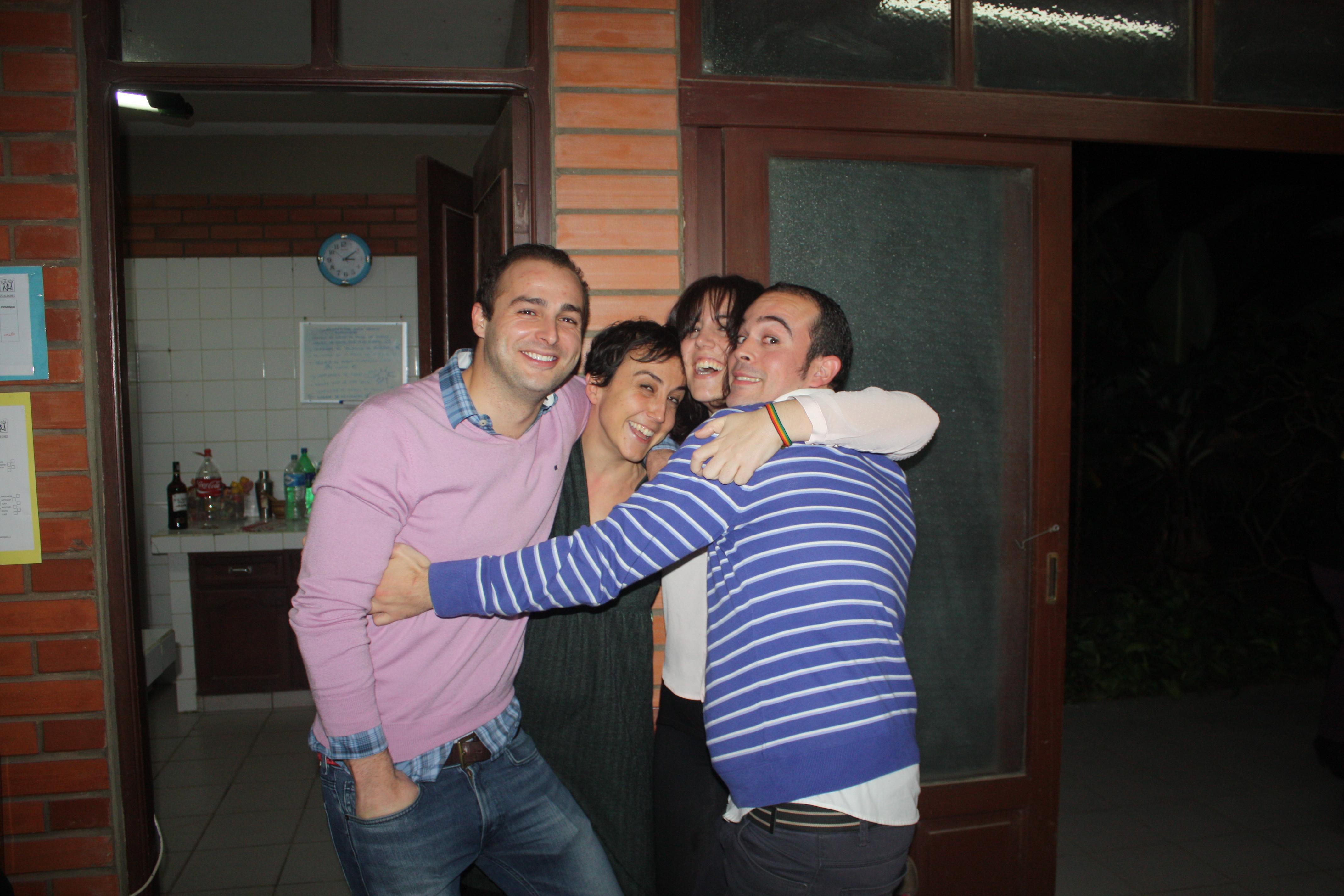 Con Celia, María y Pablo